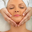 Woman having a face massage — Stock Photo #7731664