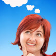Thougthful woman - Stock Photo