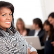 Business woman smiling — Stock Photo #7731804