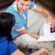 Couple studying at home — Stock Photo