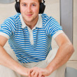 Man with earphones — Stock Photo #7731841