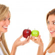 Stock Photo: Women with apples