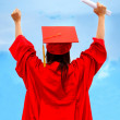 Royalty-Free Stock Photo: Excited female graduate