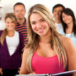 Group of students indoors — Stock Photo #7731948