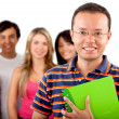 Group of students isolated — Stock Photo