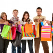 Group of shoppers — Stock Photo #7732030