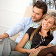 Lovely young couple relaxing - Stock Photo