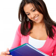 Happy woman studying — Stock Photo #7732121