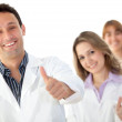 Doctors with thumbs-up — Stock Photo #7732151