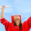 Happy woman on her graduation — Stock Photo