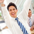Excited business man - Stock Photo