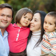 Beautiful family outoors — Stock Photo