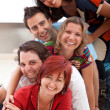 Group of friends on the floor — Stock Photo #7732224