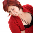 Smiley woman portrait - Stockfoto