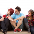 Stock Photo: Group of friends isolated