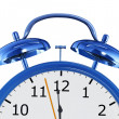 Blue alarm clock - Stock Photo