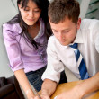 Business couple working — Stock Photo #7732259