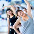 Aerobics class in a gym — Stock Photo #7732283
