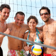 Stock Photo: Volleyball team