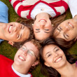 Group of friends on the floor — Stock Photo #7732311