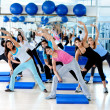 Gym group exercising — Stock Photo