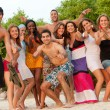 Friends at the beach — Stock Photo #7732414