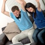 Excited couple — Stock Photo