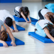 In a pilates class — Stock Photo #7732502