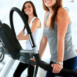 Stock Photo: Gym on cardio machines