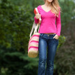 Casual woman walking — Stock Photo
