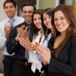 Stock Photo: Business group applauding