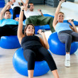 Exercising at the gym — Stock Photo