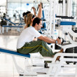 Gym Exercising — Stock Photo