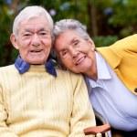 Couple of elder — Stock Photo