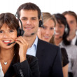 Stock Photo: Customer representative service team