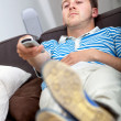 Man watching tv — Stock Photo #7736232