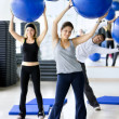 In aerobics class — Stock Photo #7736274
