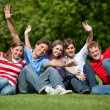 Excited group of friends — Stock Photo