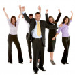 Excited business team — Stock Photo