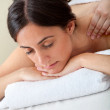 Woman getting a massage — Stock Photo