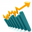 Growth graphic isolated — Stock Photo