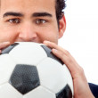 Stock Photo: Man with a football