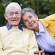 Elderly couple outdoors — Stock Photo