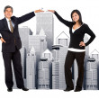 Business with corporate buildings - Foto de Stock  