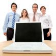 Stock Photo: Business team with laptop