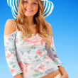 Stock Photo: Summer girl portrait