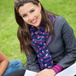 Beautiful student outdoors — Stock Photo #7736748