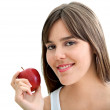 Woman with an apple — Stock Photo #7736772