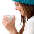 Woman with hot drink — Stock Photo #7736779