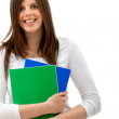 Stock Photo: Beautiful female student isolated